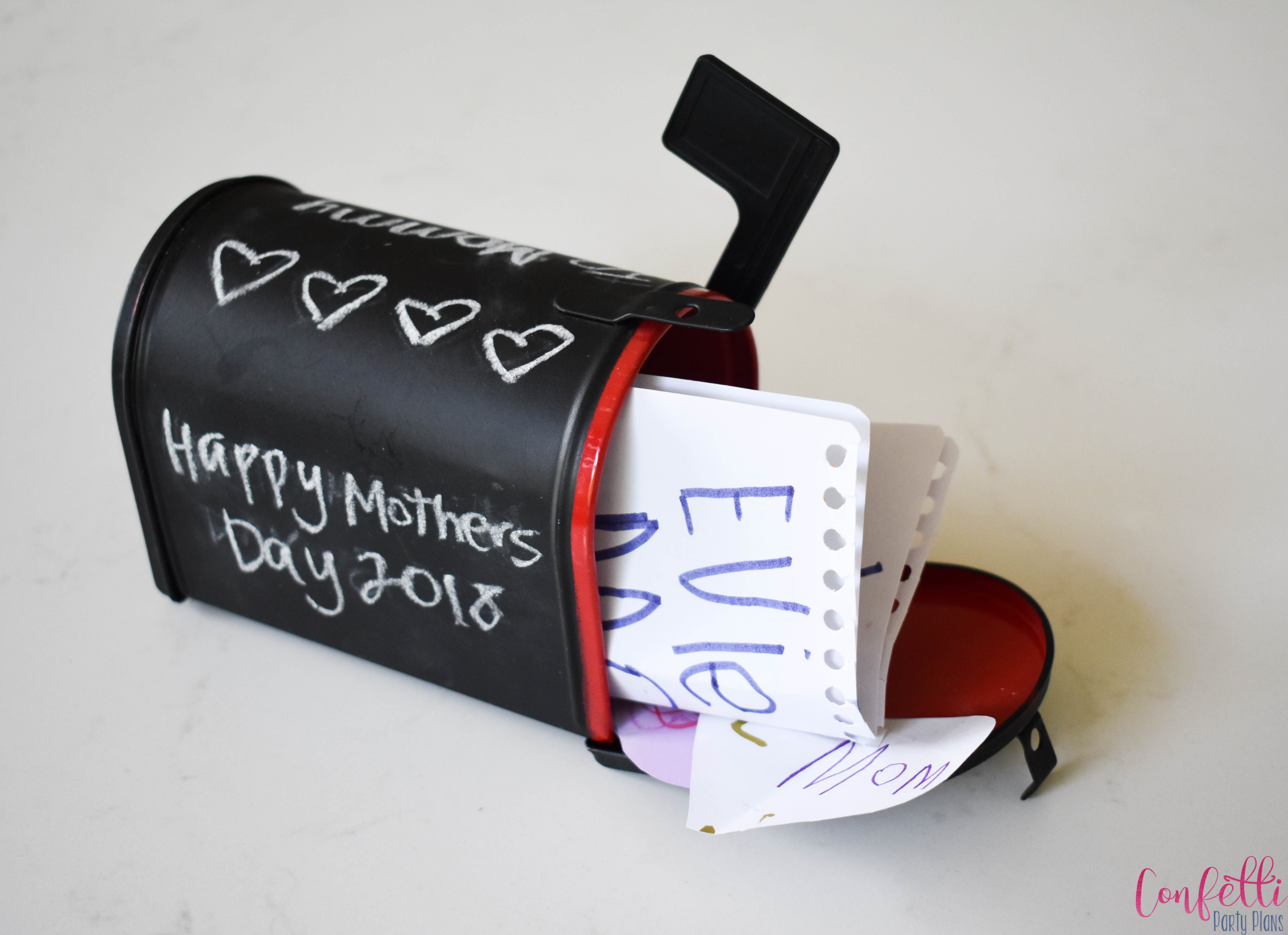 Love Notes Mailbox with notes
