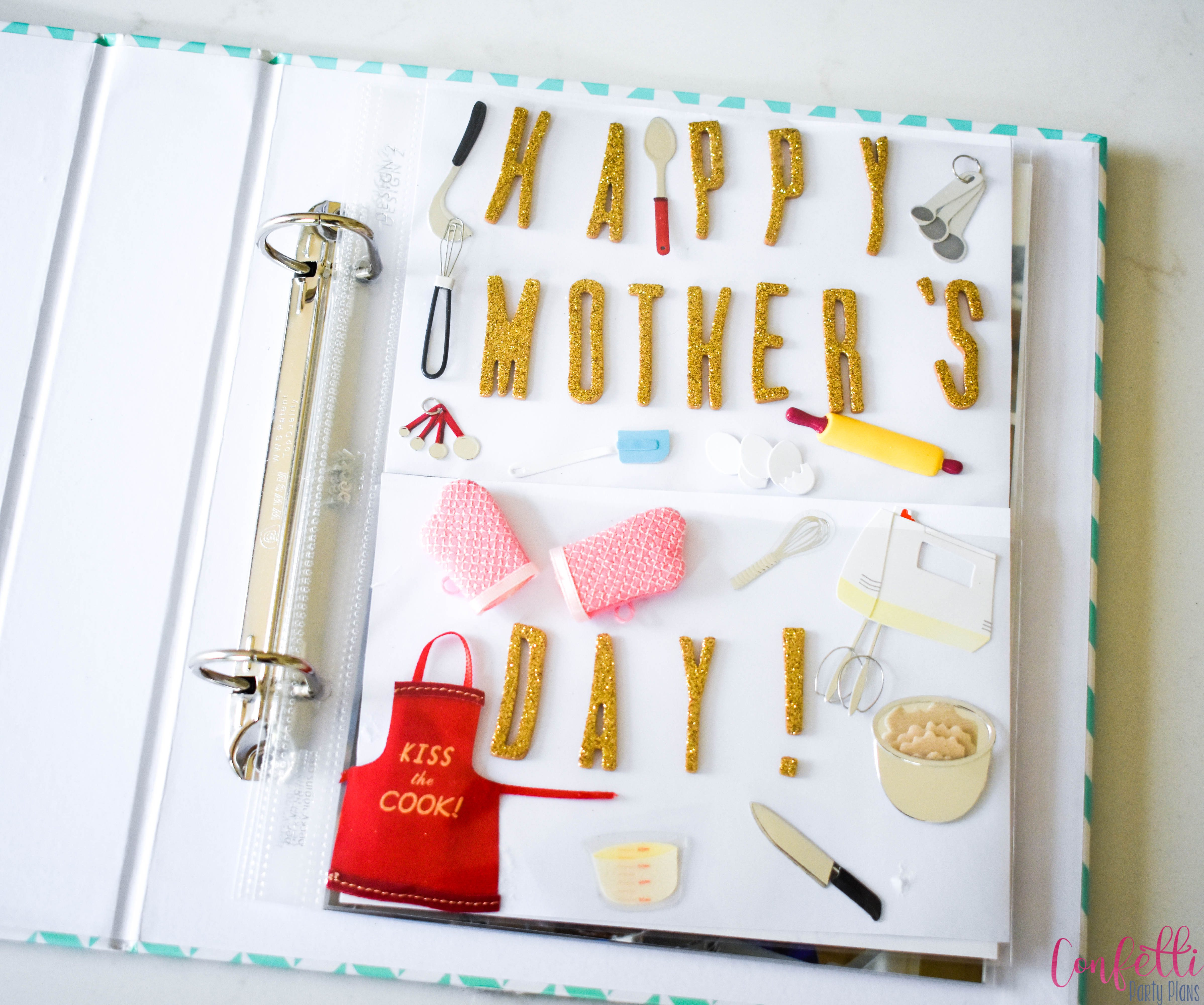 Mothers Day Page in Cookbook